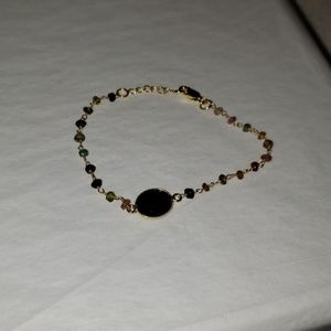 NEW MULTI-TOURMALINE ONYX BRACELET